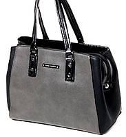 Женская черно-серая сумка от Velina Fabbiano