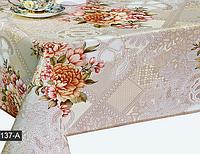 Скатерть на кухню с Большими цветами