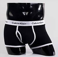 Трусы Calvin Klein 365 черные с белой резинкой - M L XL XXL - black white