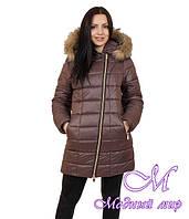 Женская удлиненная зимняя куртка большие размеры (р. 42-56) арт. Наоми удлиненная
