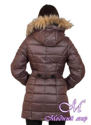 Женская удлиненная зимняя куртка большие размеры (р. 42-56) арт. Наоми удлиненная, фото 2
