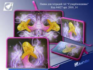 """Папка на молнии """"JO"""" А5 №2010-14 """"Девушка"""", фото 2"""