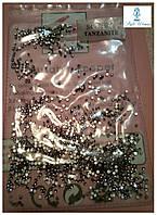Алмазная крошка, пиксели для дизайна ногтей, кристаллы 1440шт.,Tanzanite танзанит стразы S4