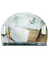 Фигурное зеркало с полочкой и подсветкой 56х78 см