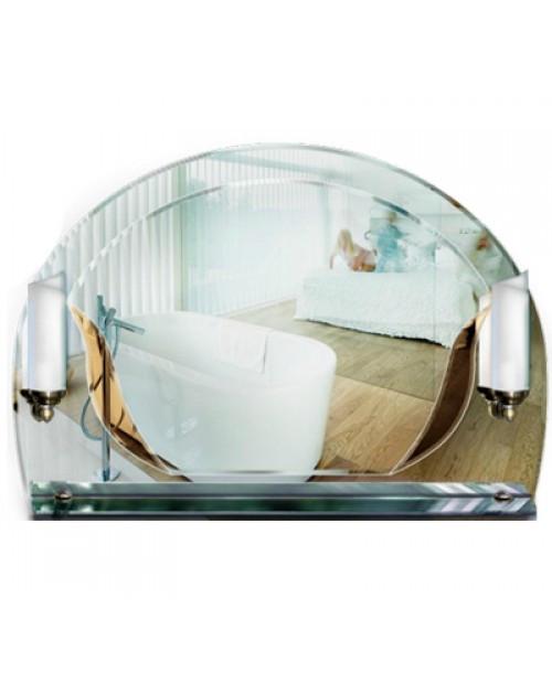 Фигурное зеркало с полочкой и подсветкой