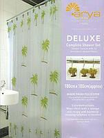 Шторки в ванную комнату 180х180,  Arya Palm Tree