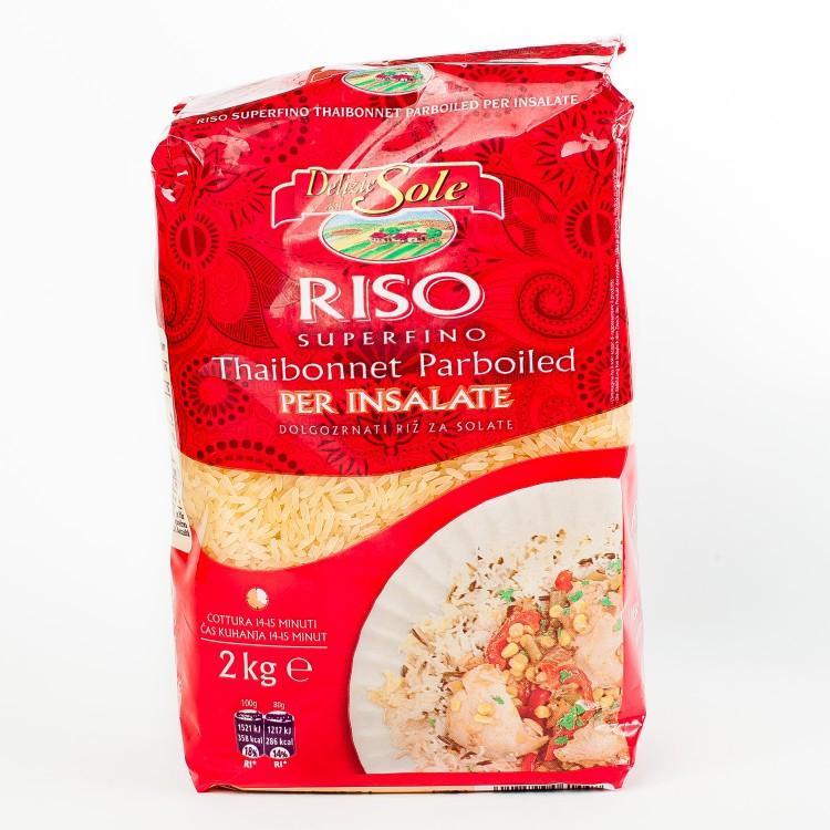 Рис пропаренный Riso Thaibonnet Parboiled Delizie dal Sole, 2 кг