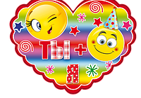 """Открытка валентинка в форме сердца """" Ты+Я """" 20 шт./уп."""