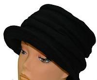 Шапка женская Валерия весенняя из шерсти  размеров 56-57 и 57-58 черная