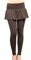 Лосины-юбка женские стильные, лосины с юбкой-клеш. Цвет на фото, размеры разные в упаковке. Оптом только.