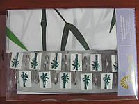 Шторка для ванной 180х180, Arya Bambo с ветками бамбука