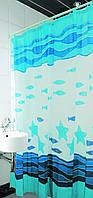 Шторка для ванной 180х180  Arya Fish