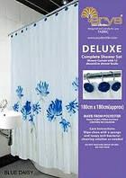 Шторка для ванной Arya Blue Daisy 180х180