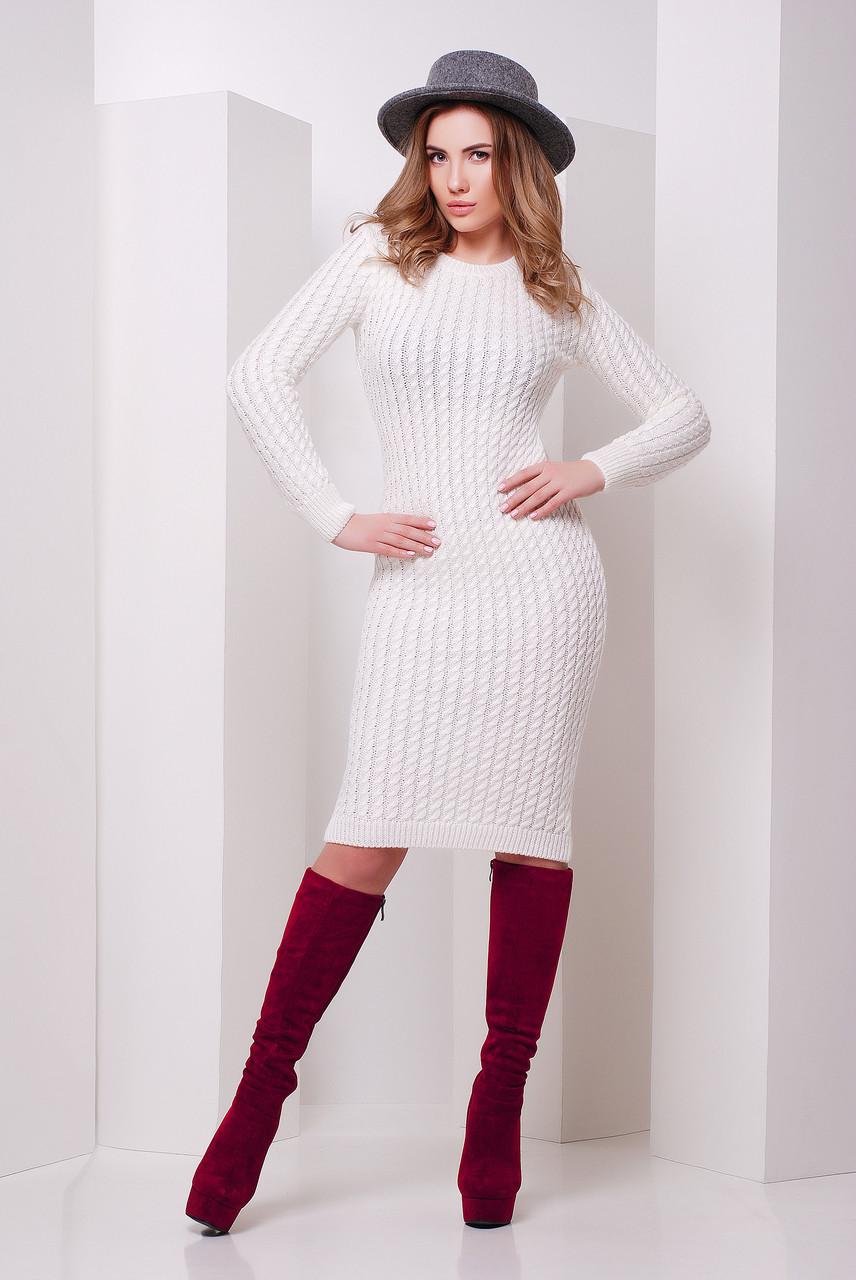 f0ec5d0a302e02a Модное белое вязаное платье, цена 450 грн., купить в Киеве — Prom.ua  (ID#463441111)