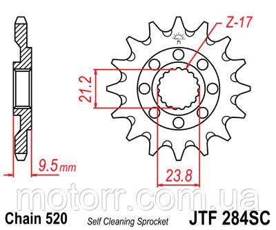 Зірка передня JT JTF284.13SC