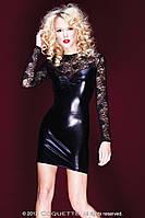 Глянцевое комбинированное платье