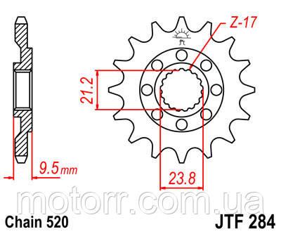 Звезда передняя JT JTF284.12
