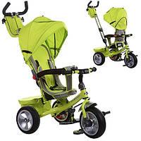 Детский трехколесный велосипед с ручкой Turbo Trike M 3205A-2 (Зеленый)