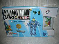 Магнитный 3D конструктор Magnastix 136 деталей