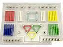 Магнитный 3D конструктор Magnastix 136 деталей, фото 4
