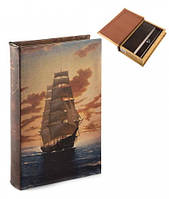"Шкатулка книга-сейф ""Неизведанные моря"" (26*17*5 см), 2 ключа"