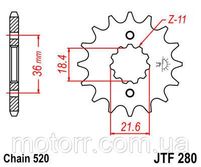 Звезда передняя JT JTF280.13