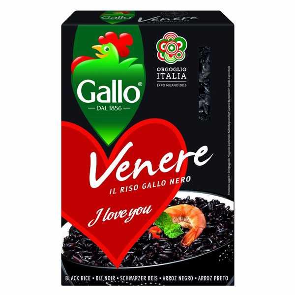 Рис черный Riso Gallo Nero Venero, 500 г