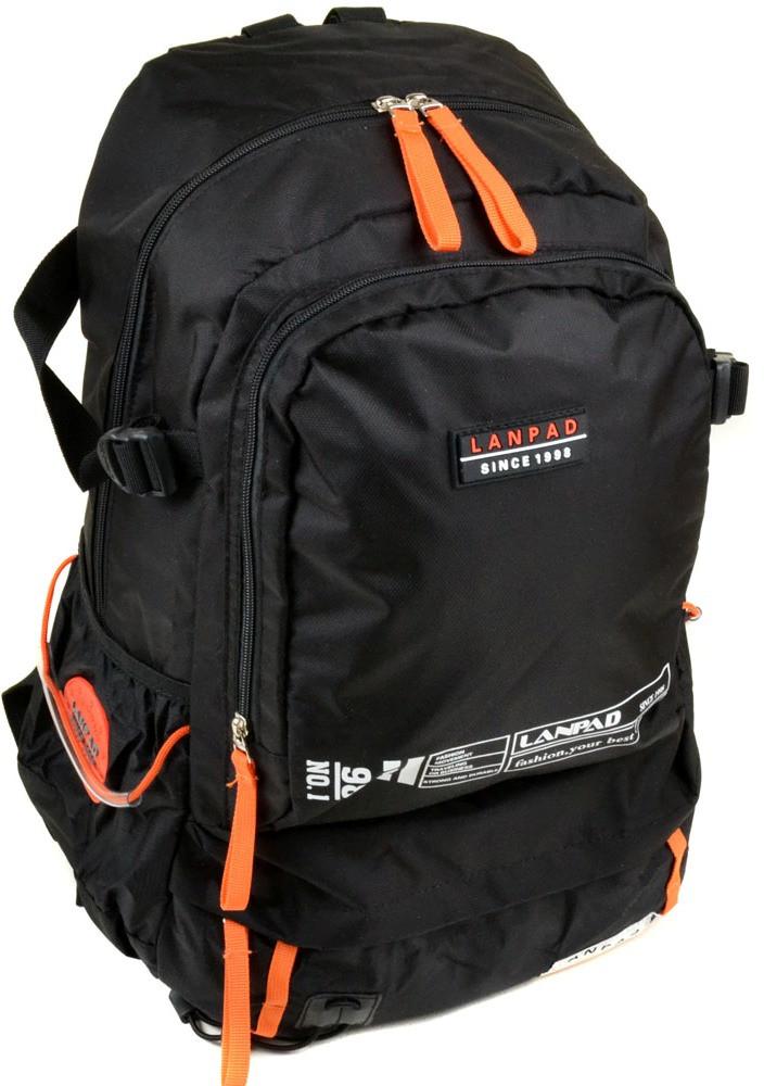 Практичный городской рюкзак из нейлона 31 л. Lanpad 3344 black