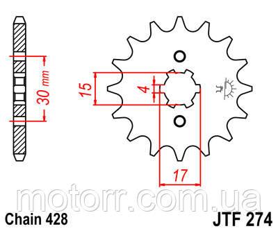 Звезда передняя JT JTF274.14