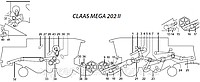 Ремни на комбайн Claas Mega 202 II