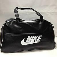 Спортивная городская дорожная сумка черная кожа кожзам найк nike черная оптом   28*50