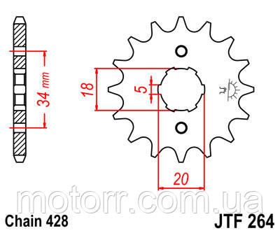 Звезда передняя JT JTF264.16