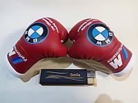 Мини боксерские перчатки в автомобиль BMW M-Performance Красные, подарок, сувенир, брелок