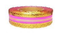 Лента коронка флористическая розовая 4 см х 25 ярдов