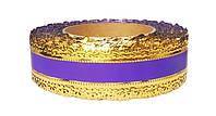 Лента коронка флористическая фиолетовая 4 см х 25 ярдов