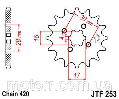 Звезда передняя JT JTF253.15