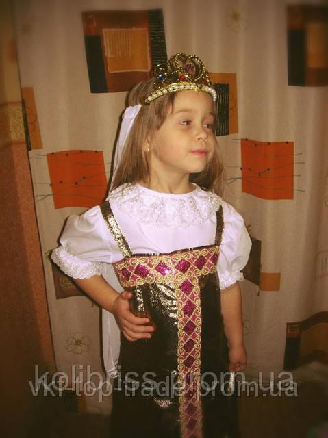 Карнавальный костюм царицы, русской красавицы прокат