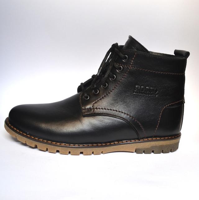 Кожаные зимние мужские ботинки Rosso Avangard. Falkoni черные