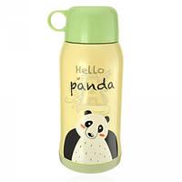 Бутылка-термос 415.2 Hello panda металлическая желтого цвета