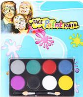 8 цветов краска боди-арт для лица для детей от 3 лет Face Paint party