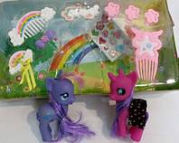 Лошадка пони единорог две штуки набор для девочки ребенка игрушка