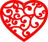 сердце ажурное резное