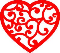 серце ажурне різьблене