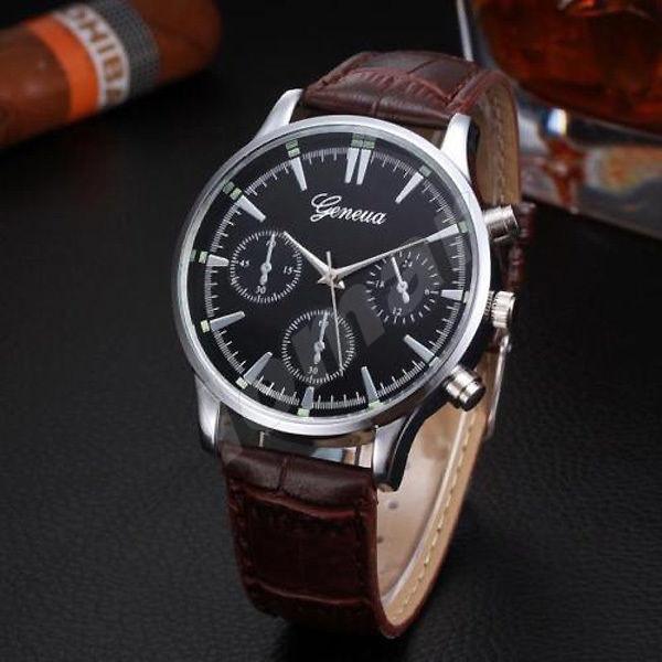 Мужские кварцевые часы Geneva V.1