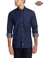 Мужская джинсовая рубашка Dickies®(США) (XL) WL300 RNB (Indigo Blue)/100% хлопок/Оригинал из США