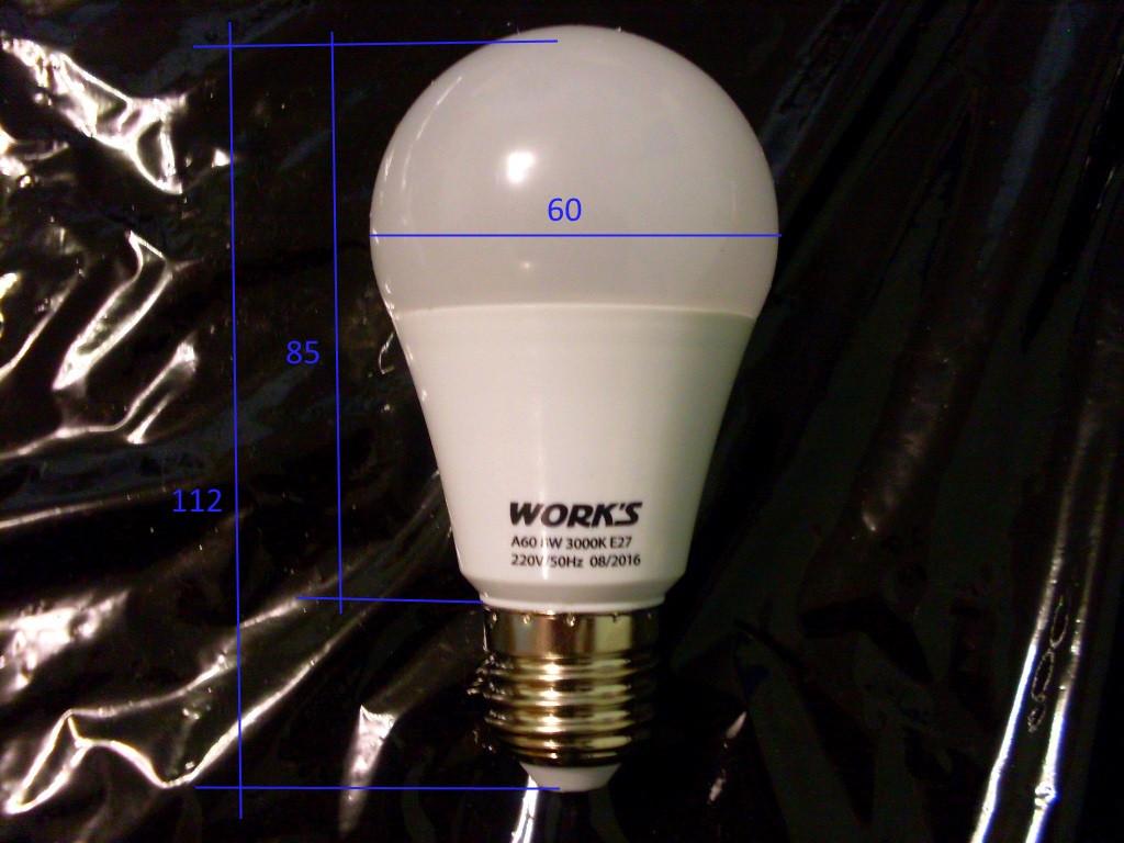 Лампа LED 10 Вт Works LB1040-E27-A60  - ЧП Сварка-Буд в Днепропетровской области