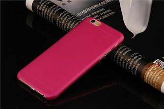 Чехол для iPhone 7 розовый - Soft Touch Plastic Case Pink