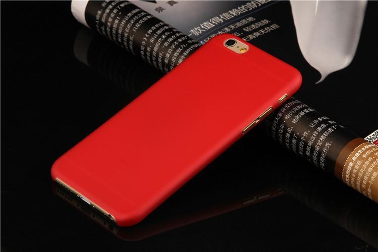 Чехол для iPhone 7- Soft Touch Plastic Case Red