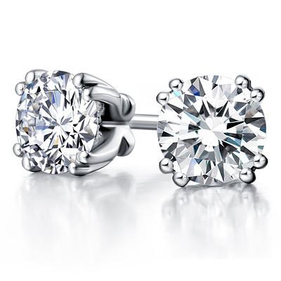 Серьги гвоздики с бриллиантами