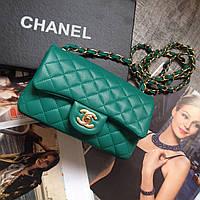Сумка женская Шанель клатч женский Chanel кожаный кожаная мини